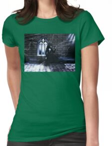 Haunted Interior and Ghost Womens Fitted T-Shirt
