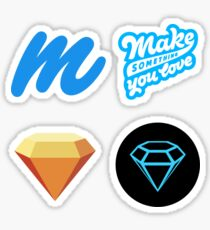 Marvel App and Sketch App - UI/UX love it Sticker