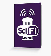 Sci-Fi ZONE White Greeting Card