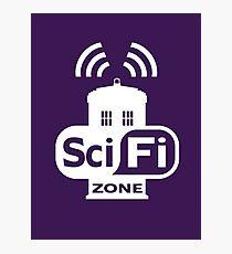 Sci-Fi ZONE White Photographic Print