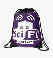 Sci-Fi ZONE White Drawstring Bag