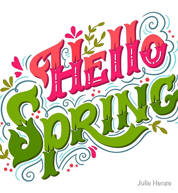 Hello spring by Julia Henze