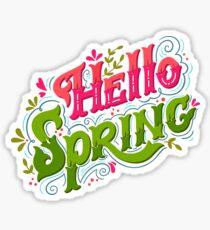 Hello spring Sticker