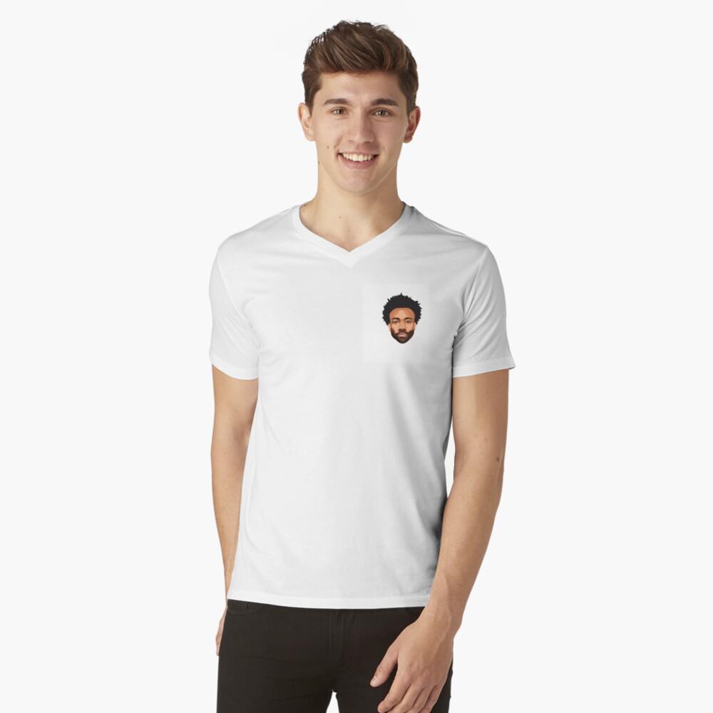 Stylish Gambino Mens V-Neck T-Shirt Front