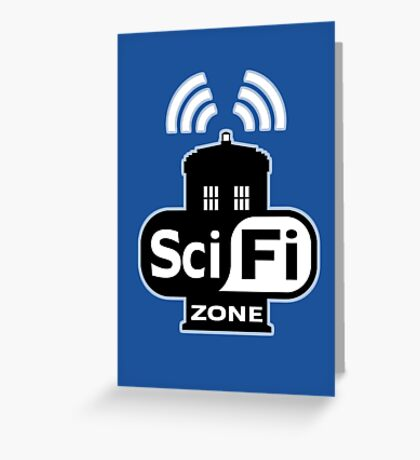 Sci Fi ZONE Greeting Card