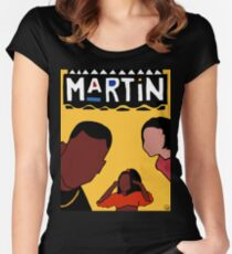 Martin (Yellow) Women's Fitted Scoop T-Shirt