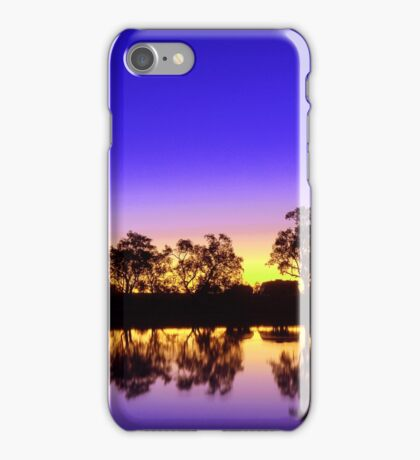 Sunset at the waterhole iPhone Case/Skin