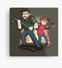 Post-Apocalyptic Dynamic Duo! Metal Print