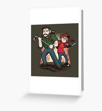 Post-Apocalyptic Dynamic Duo! Greeting Card