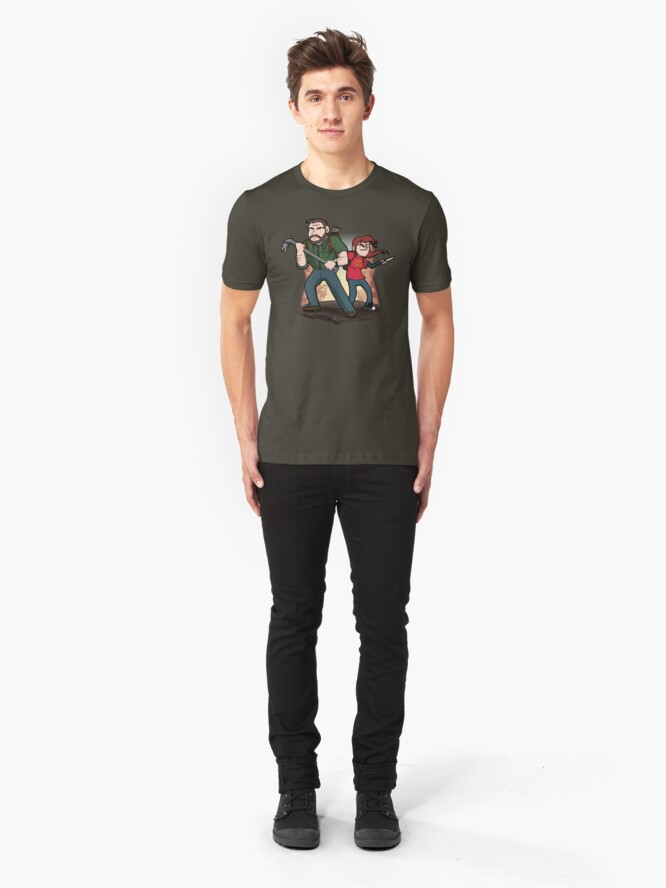 Alternate view of Post-Apocalyptic Dynamic Duo! Slim Fit T-Shirt