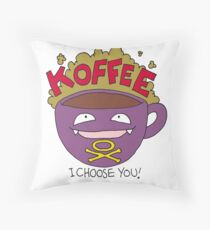 Koffee! I Choose You! Throw Pillow
