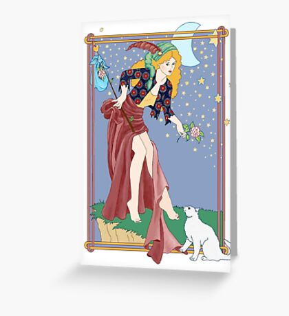 Tarot Fool Greeting Card