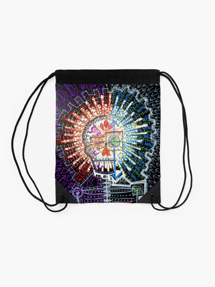 Alternate view of Always On The Edge Of Death, But All We Have Is Now Drawstring Bag