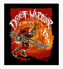 Guitar Warrior Vs The Mad Photographic Print