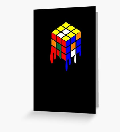 Dripping Cube Greeting Card