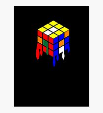Dripping Cube Photographic Print