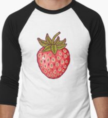strawberry fields Men's Baseball ¾ T-Shirt