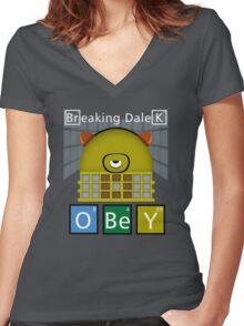 Breaking Dalek Women's Fitted V-Neck T-Shirt