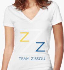 Team Zissou T-Shirt Women's Fitted V-Neck T-Shirt