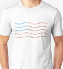 Sam Seaborn West Wing quote, 100,000 Airplanes Unisex T-Shirt