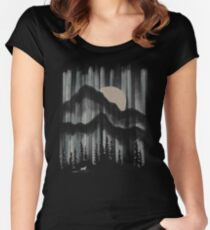 A Wolf in the Night... Women's Fitted Scoop T-Shirt