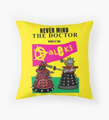 The Punk Daleks  Throw Pillow