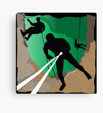 Abseil or Rappel, Rock Climber Canvas Print
