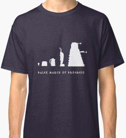 Dalek March of Progress White Classic T-Shirt