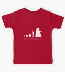 Dalek March of Progress White Kids Tee