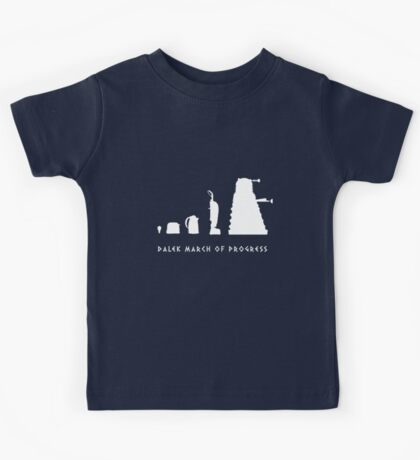 Dalek March of Progress White Kids Clothes