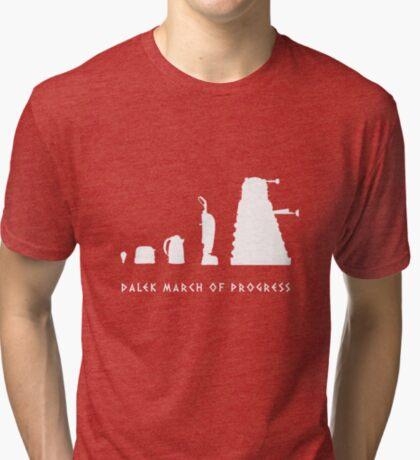 Dalek March of Progress White Tri-blend T-Shirt