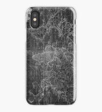 World Map (1778) Black & White  iPhone Case/Skin
