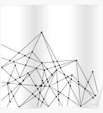 Geometrische Berge Poster