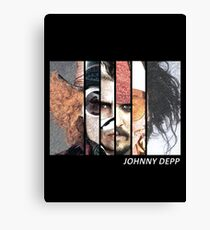 Johnny Depp Characters Canvas Print
