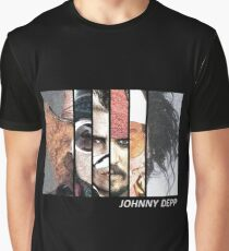 Johnny Depp Characters Graphic T-Shirt