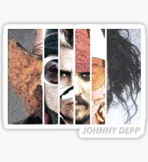 Johnny Depp Characters Sticker