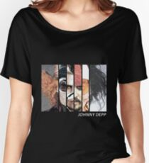 Johnny Depp Characters Women's Relaxed Fit T-Shirt