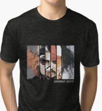 Johnny Depp Characters Tri-blend T-Shirt