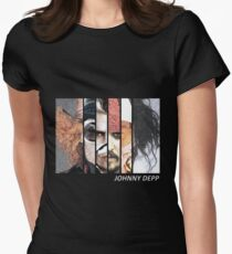 Johnny Depp Characters Women's Fitted T-Shirt