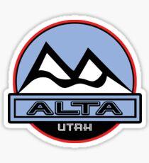 ALTA UTAH Mountain Skiing Art Sticker