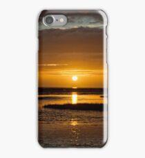 Dog Walking On Golden Sunset iPhone Case/Skin