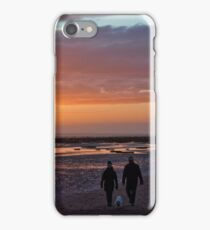 Couple Walking At Golden Hour iPhone Case/Skin