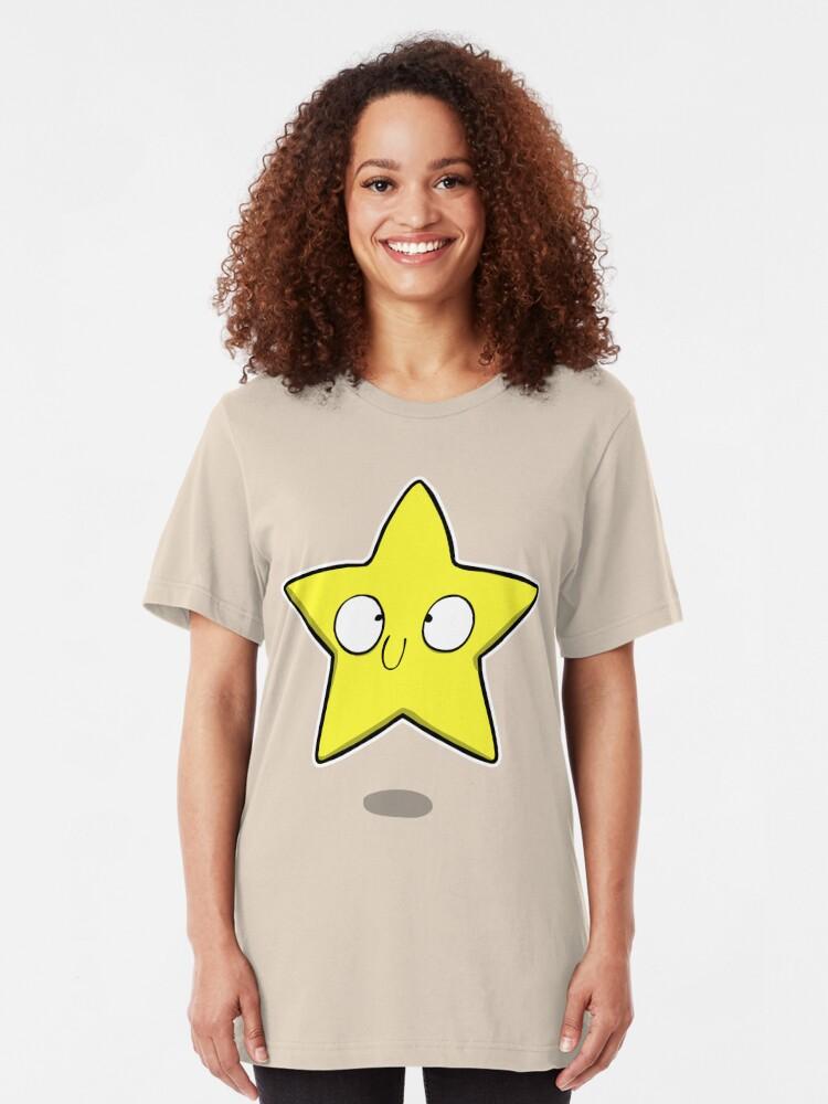 Alternate view of Derpy Starman Slim Fit T-Shirt