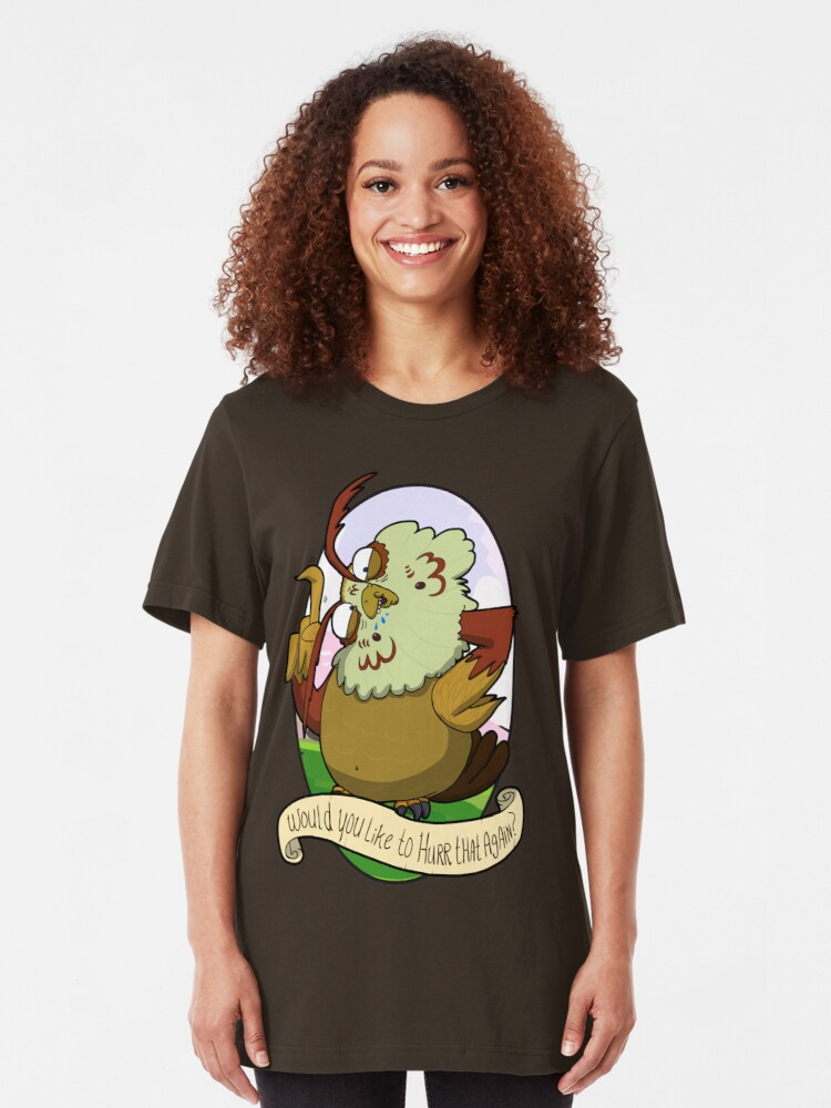 Alternate view of Would you like to hurrrr that again...? Slim Fit T-Shirt