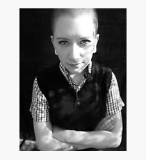 Skinhead Girl Photographic Print