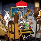 Horses Playing Poker by drawgood