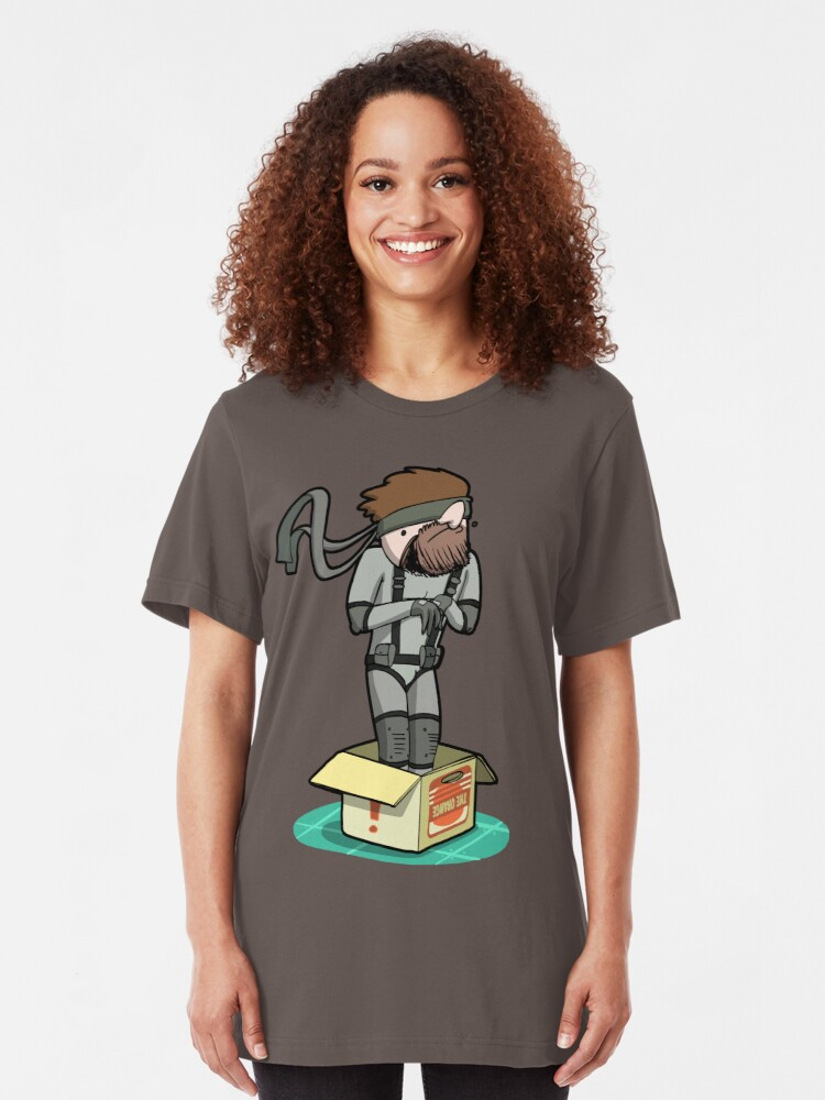 Alternate view of He thinks he's hiding... Slim Fit T-Shirt