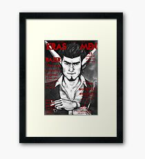 Razer Cover Kras Men Magazine Framed Print
