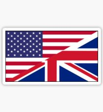 ANGLO, AMERICAN, FLAG, USA, America, Great Britain, Union Jack, Stars & Stripes Sticker