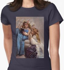 Victorian Era Portrait of two girls reading a book T-Shirt